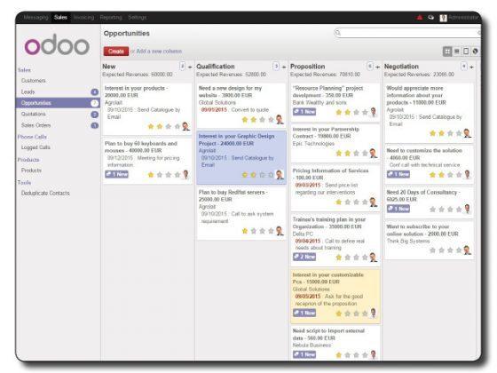 Odoo gestion de relation client