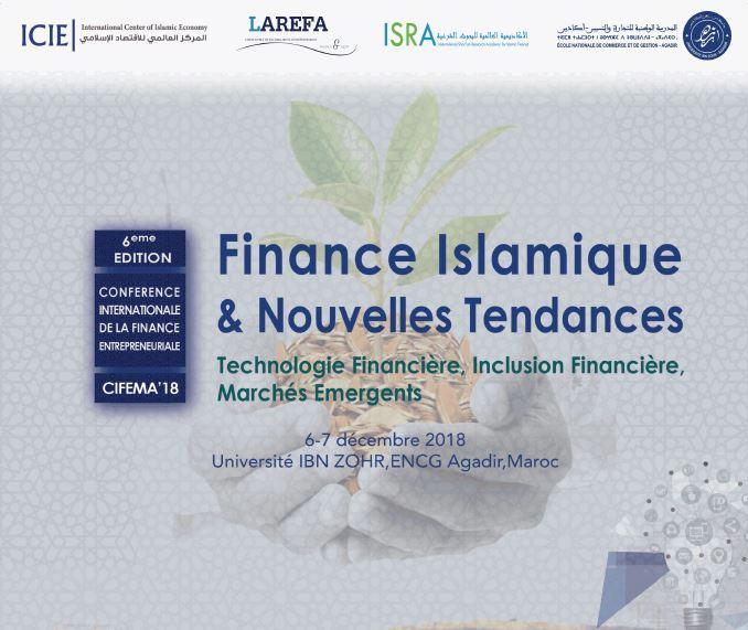 6 éme édition de la conférence internationale de la finance entrepreneuriale cifema' 18