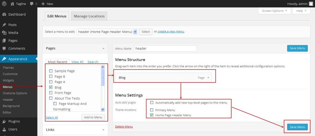 Pour creer votre site web gratuite editer votre menu wordpress ici